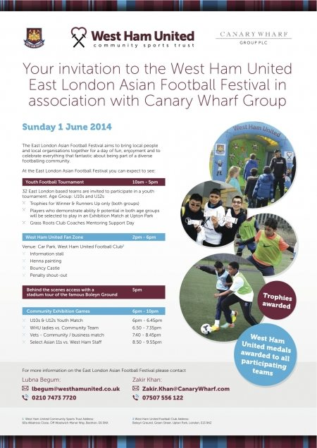 Asian Football Festival Invitation