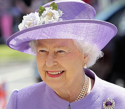 Queen Elizabeth II visits a new maternity ward at the Lister Hospital in Stevenage.