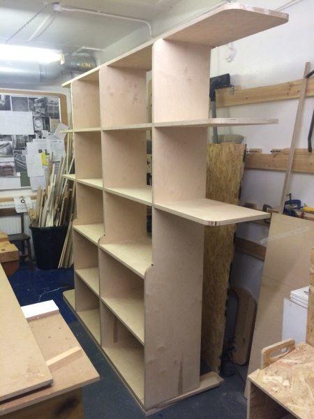 fitted bookshelves
